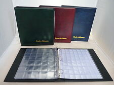 Blue Classic Coin Album Comes With 6 Pages Choose 20 30 63 Mixed Pocket Dividers
