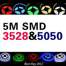 5M/10M/15M 3528/5050 RGB/Warm/Cool White LED Strip Light 24key or 44key Remote