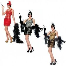 Broadway Flapper Costume Adult Halloween Fancy Dress