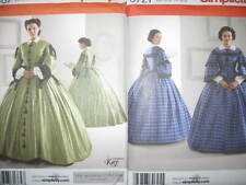 Pattern Civil War DRESS 8-14 or 16-24 inner sleeves collar s3727 or s2887 2diff