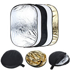 """24""""*36"""" 35""""*47"""" 40""""*60"""" 5 in 1 Studio Photo Collapsible Oval Light Reflector"""