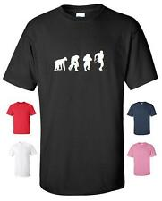 EVOLUTION OF A RUGBY PLAYER T-SHIRT MENS WOMENS CHILDRENS SIZES 6 NATIONS WORLD