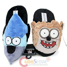 Regular Show Rigby and Mordecai 3D Face Plush Doll Slipper ( 4 Size S to XL)