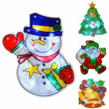PVC Light Up Christmas Silhouette Window Suction Decoration 10 White LED Lights