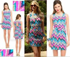 $188 Lilly Pulitzer Kirkland Multi Hearts A Flutter Cut-Out Back Shift Dress