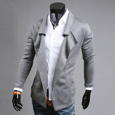 Grey Men Stylish Slim Fit Thin Casual Formal Open Blazer Coat Jackets Tops XS~L