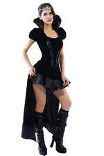 Burleque Steampunk Kleid black Queen dark Angel Kostüm Gothic Halloween #882
