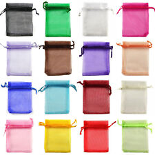 8x12cm 26 Colours Premium ORGANZA Wedding Favour GIFT BAGS POUCHES