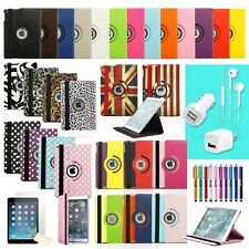 360 Degree Rotating PU Leather Case + Accessories For Apple iPad Air 5 5th Gen