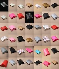 PACK OF 12 PILLOW PACK GIFT JEWELLERY BOXES - FLAT PACKED - WHOLESALE BULK BUY