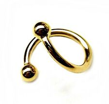 14k solid yellow gold Spiral barbell Twisted barbell Lip - Daith Ear - 16 Gauge