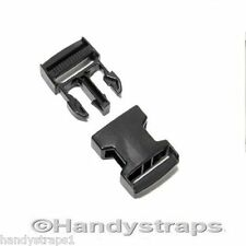 25 x 25 mm Black Plastic Side Release Buckles for webbing  Quick Release Buckles