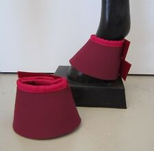 Horse Bell or overreach Boots Burgundy & Pink AUSTRALIAN MADE Protection