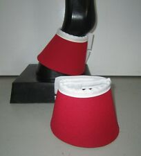 Horse Bell or Overreach Boots Red & White AUSTRALIAN MADE Protection
