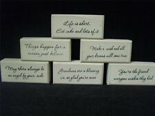 NEW WOOD BLOCK PLAQUE SIGN FUNNY SAYING GIFT PRESENT HOME DECOR ACCESSORY WORDS