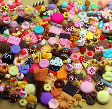 Mixed lot Sweets Food Cupcake Macaroon Cabochons Diy Assorted Sets Deco Flatback
