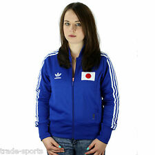 adidas ORIGINALS WOMENS UK SIZE 10 12 BLUE TRACK TOP JAPAN RETRO SPORTS JACKET