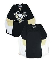 Pittsburgh Penguins Reebok Home Black/Vegas Gold Men's Authentic Blank Jersey