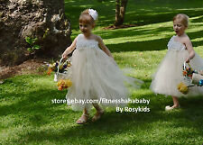 flower girl dress Tutu Dress girl dress weddings tea party special occasions