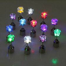 1 Pair Men Women LED Light Earrings Studs XMAS Dance Party Decoration 6 Colors