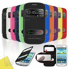 Flip Leather Case Cover For Samsung Galaxy S3 Mini i8190 Free Screen Protector