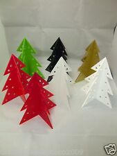 CHRISTMAS TREE TABLE DECORATION CELEBRATION CENTRE PIECE IN LASER CUT ACRYLIC