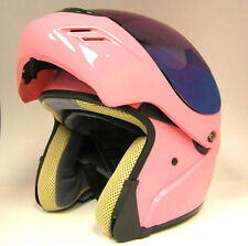 NEW Motorcycle Modular Flip up Full  Face Snowmobile Helmet  Lady Pink S M L XL