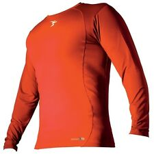 PRECISION TRAINING THERMAL BASE LAYER CREW TOP - ORANGE - LONG SLEEVE