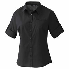 (Free PnP) Premier Womens/Ladies Roll Sleeve Poplin Shirt / Plain Work Shirt