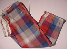 NWT Abercrombie Fitch Flannel Sleep Pajama Lounge Pants Red Gray Blue Men Sz XL