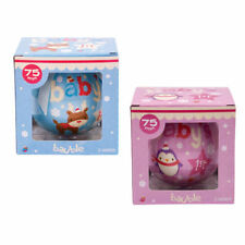 Baby's First Christmas Bauble - Pink & Blue - Christmas Decoration