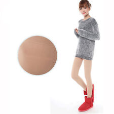Beige Women Fleece Warm Thick Slim Show Thin Leg Socks pantyhose Tights