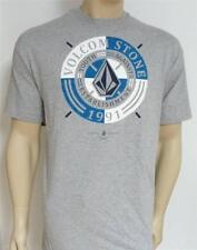 Volcom Stone Collected Tee Mens Gray Heather T-Shirt New NWT