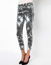 JOE'S JEANS The High Water Skinny Ankle Palm Print Jeans - Black $179