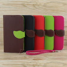 Leaf Wallat Pouch Leather Stand Case Cover For Samsung Galaxy Note 2 II N7100