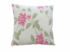 "Villa Nova"" Mya"" scatter  cushion covers in cream pink and green floral fabric"