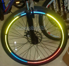 "6piece New Motorcycle Bicycle Reflective Wheel Rim Sticker Tape For 10""~28"" Bike"