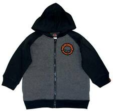 Harley-Davidson Boys Skull Fleece Zipper Hoodie Grey & Black 0391472