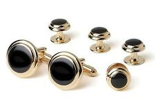 Two Tier Formal Tuxedo Stud and Cufflinks Set