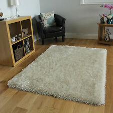 Luxury Off White Shimmery Shag Lounge Mat High End Quality Discount Price Rugs
