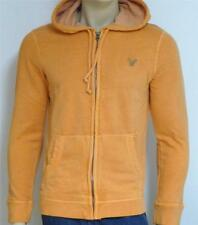 American Eagle Outfitters Mens Muted Orange Hoodie Sweatshirt Jacket New NWT