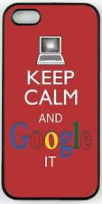 Rikki Knight Keep Calm And Google It -Red Color Case for iPhone 4, 5 & 6