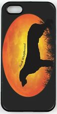 Irish Wolfhound Dog Silhouette By Moon Case for iPhone 4/4s, 5/5s, 5c