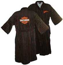 Harley-Davidson Mens Orange Pinstripe Baseball Robe Bathrobe 4654/4663