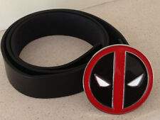 DEADPOOL metal BUCKLE with FREE BELT wade wilson cosplay marvel comics NEW