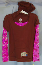 HIGH SCHOOL MUSICAL 100% Cotton L/S Brown 2-Fer HOODIE GIRL SIZE 16 NWT