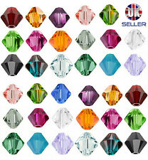 50pcs Swarovski Crystal Elements Beads 5328 Xilion Bicone 4mm -Choose the colour