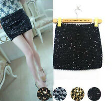 Super Slim Wild Sequins package Hip Skirt Elastic Shine Half-Length Short Skirts
