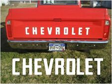 67-72 Fleet Side Chevy Truck Pickup Tailgate Letters, 1967 1968 1969 1970 1971