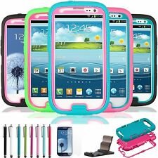 PC Shockproof Dirt Snow Proof Hybrid Hard Case Cover For Samsung Galaxy S3 i9300
